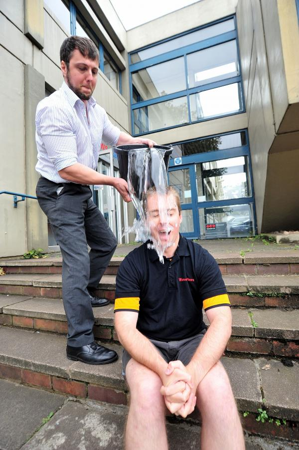 VIDEO: Watch Worcester News political reporter Tom Edwards get SOAKED in the Ice Bucket Challenge