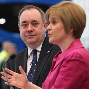 Nicola Sturgeon (right) says she is focusing on persuading people to
