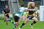 Tom Biggs in action at Sixways.