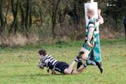 TRY TIME: For Ledbury in their defeat at leaders Woodrush. Picture: CRAIG ROSS.
