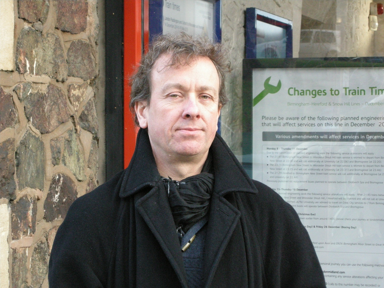 Rail failure: Julian Roskams at Great Malvern railway station.