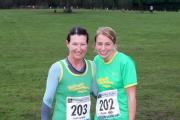COUNTY COMPETITORS: Malvern Joggers' Julie Caseley and Megan Judge ran in Cofton Park. Picture: PAUL CASELEY.