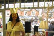 Helen Portman as a fairy queen in a recent fundraising event.