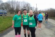 GOLDEN GALLOP: Malvern Joggers' (left to right) Judy Dendy, Paul Webb and Annie Robson.