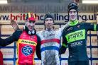 CHAMPION: British Cycling National Trophy Cyclo-cross Series final round winner Liam Killeen (centre). Picture: ANDY WHITEHOUSE, SNOWDON SPORTS