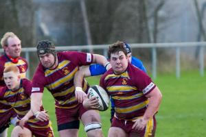 PICTURES: Ben King's kick earns draw for Malvern Rugby Club with Leamington