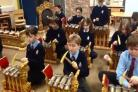 Pupils from King's St Alban's experience Gamelan music (55381204)