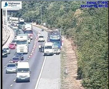 UPDATED: Severe traffic on M5 southbound between junctions seven and