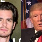 Malvern Gazette: Donald Trump needs a kiss to calm down, actor Andrew Garfield says
