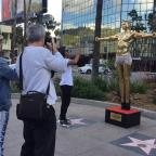 Malvern Gazette: Gold statue of Kanye West as Jesus unveiled by British artist in Hollywood