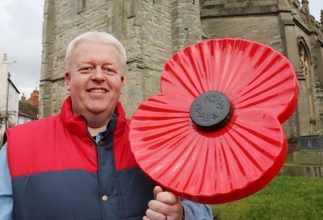 Poppy Appeal organiser David Malin.