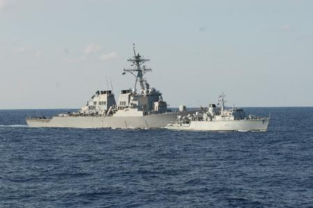 Close encounter with US destroyer