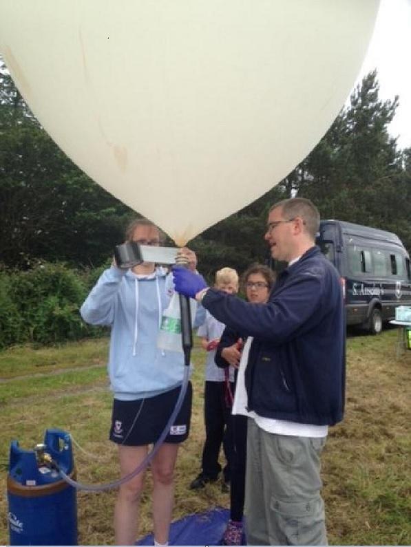 Preparing to mlaunch the balloon.