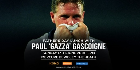 Fathers Day Lunch with Paul 'Gazza' Gascoigne