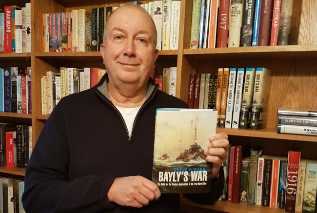 Barnt Green author Steve Dunn with his newest book Bayly's War