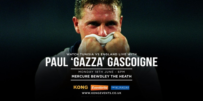 Watch Tunisia vs England Live with Paul 'Gazza' Gascoigne