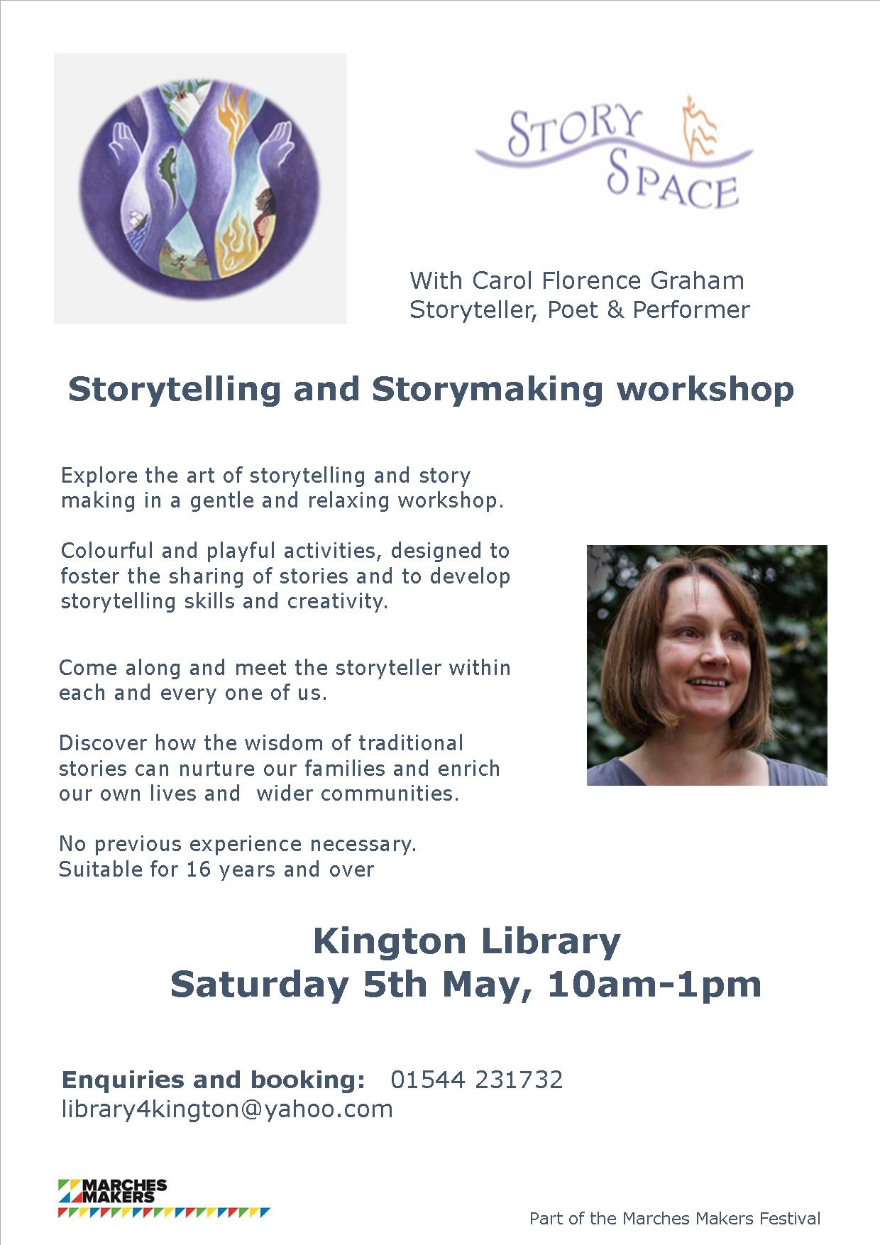 Storytelling and Storymaking workshop in Kington Library