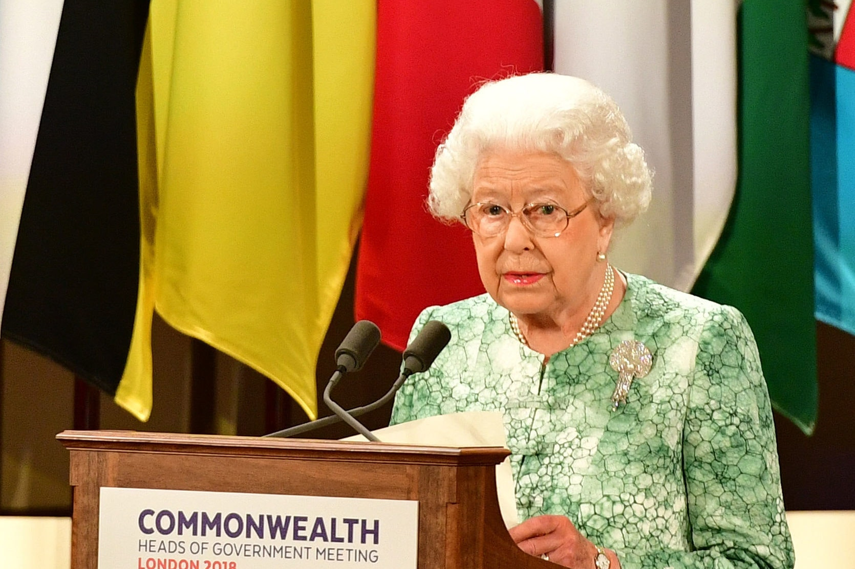The Queen addresses Commonwealth heads (Dominic Lipinski/PA)