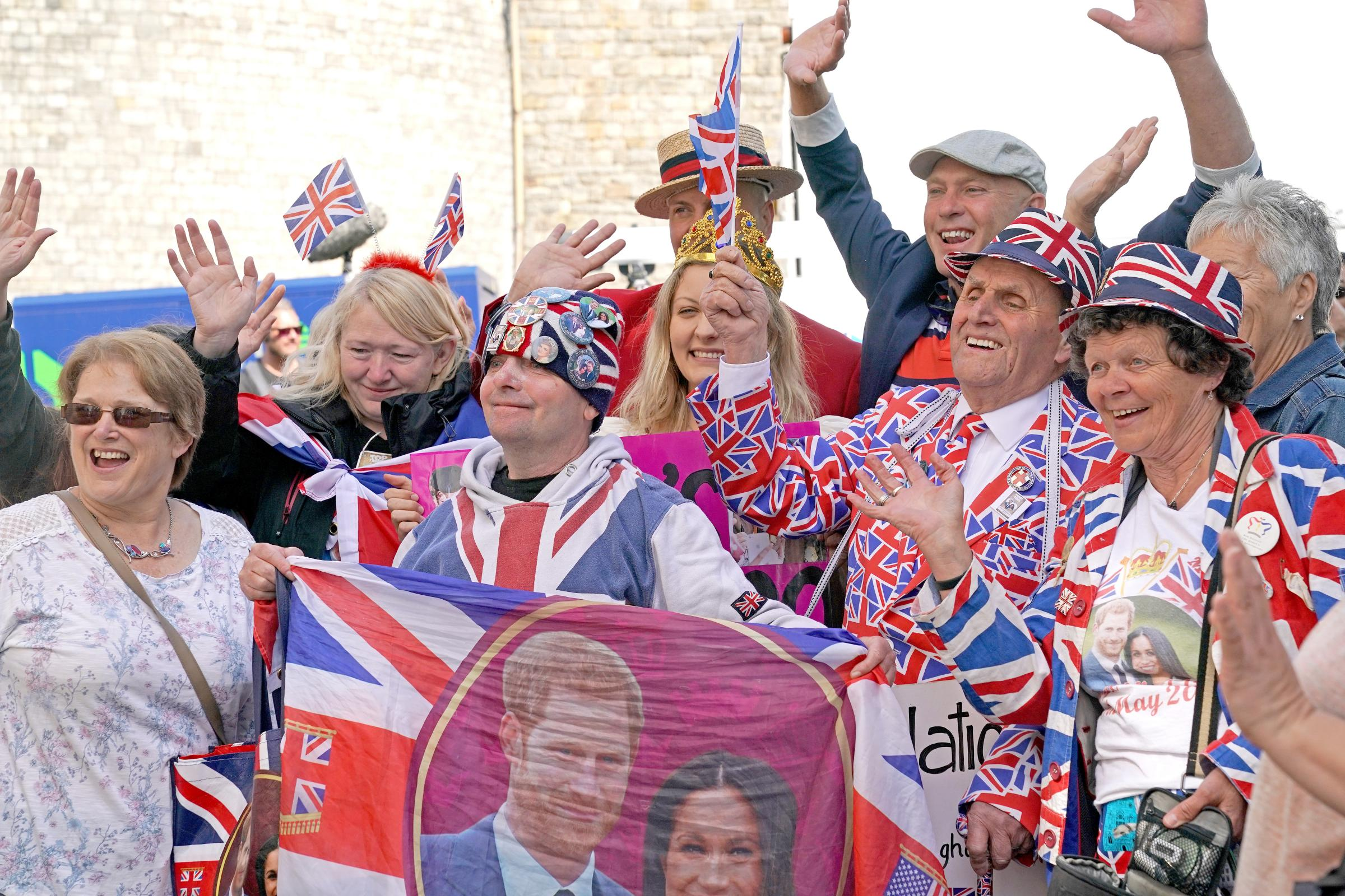 Royal fans in Windsor have been told not to throw confetti ahead of the wedding of Prince Harry and Meghan Markle (Owen Humphrey/PA)