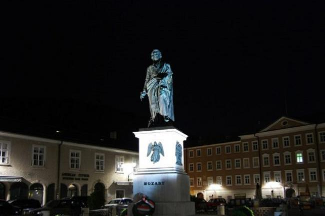 ROMANTIC. Mozart's statue in Saltzburg. The Requiem was written in Vienna, in slighly eerie circumstances.