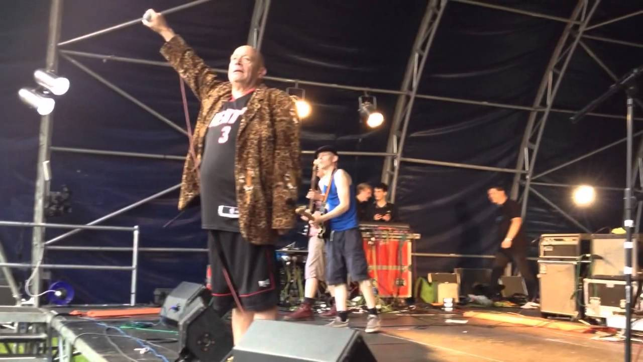PERFORMING: The mighty Buster Bloodvessel