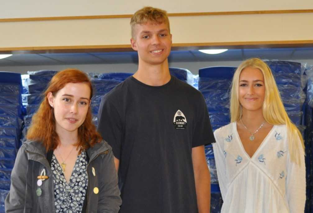 EXCITED: Students recieved their A level results at Cotswold School