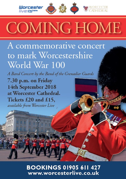 Band of the Grenadier Guards - Commemorative Concert to mark Worcestershire WW1 100