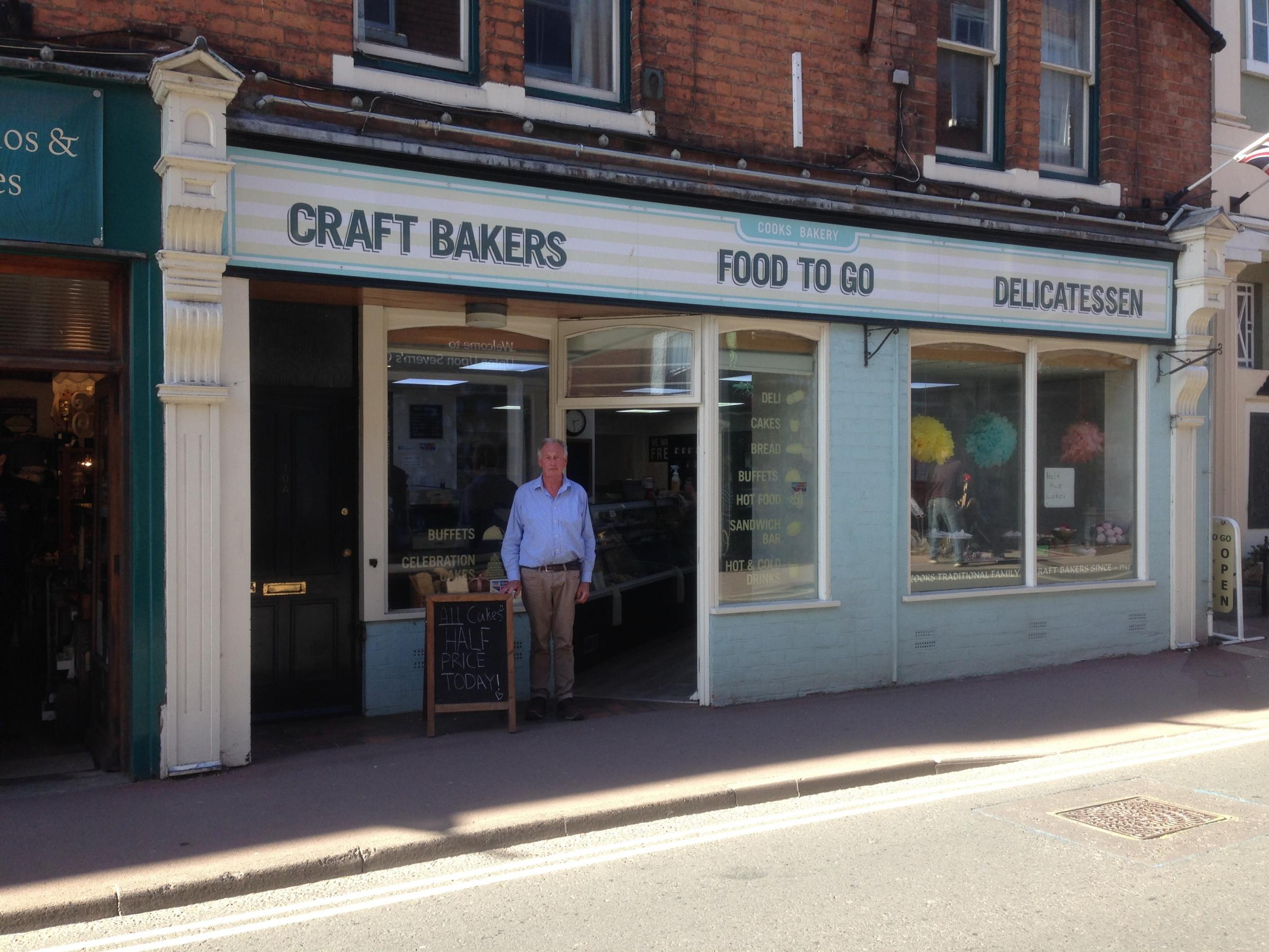 CLOSED: Peter Maiden, owner of Cooks Bakery, outside his shop in Old Street, Upton