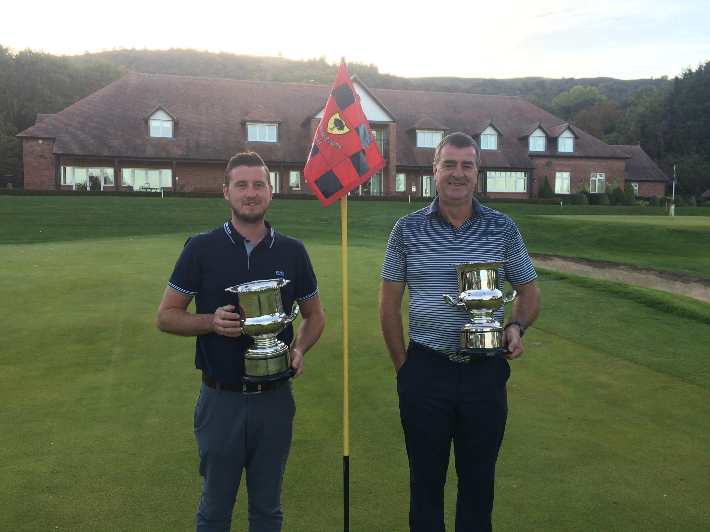 Jason Allies Andy Dunster won the DeVere Open at The Worcestershire Golf Club