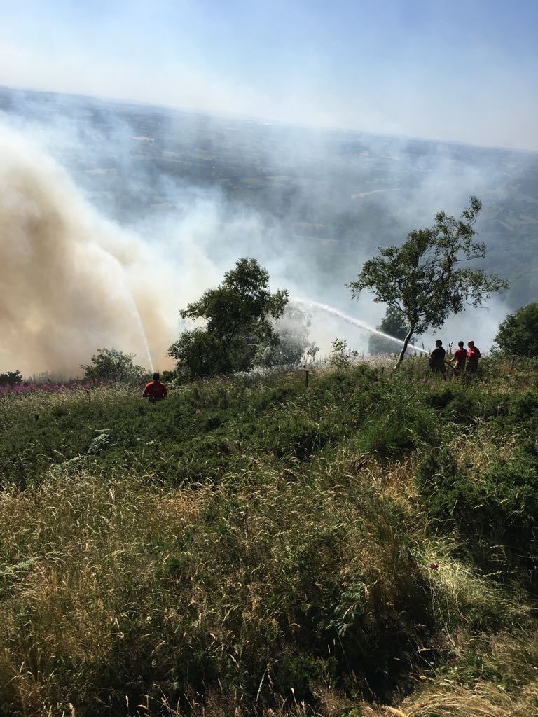 BLAZE: More than 100 fire service personnel tackled The Malvern Hills wildfire