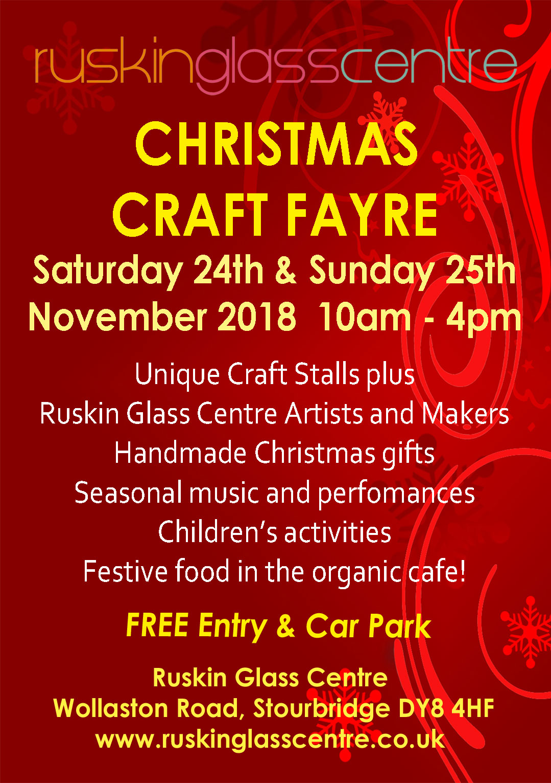 Ruskin Glass Centre Christmas Craft Fayre