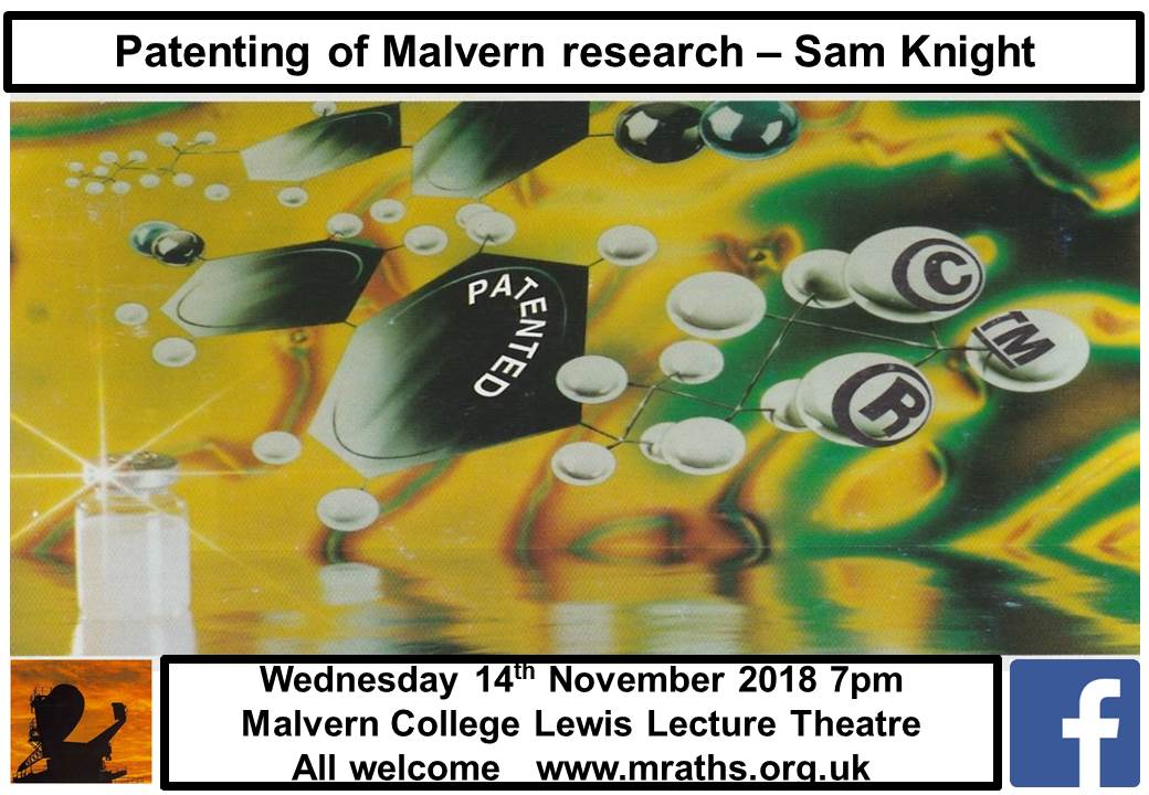MRATHS Meeting and Talk on Patenting of Malvern Research by Sam Knight