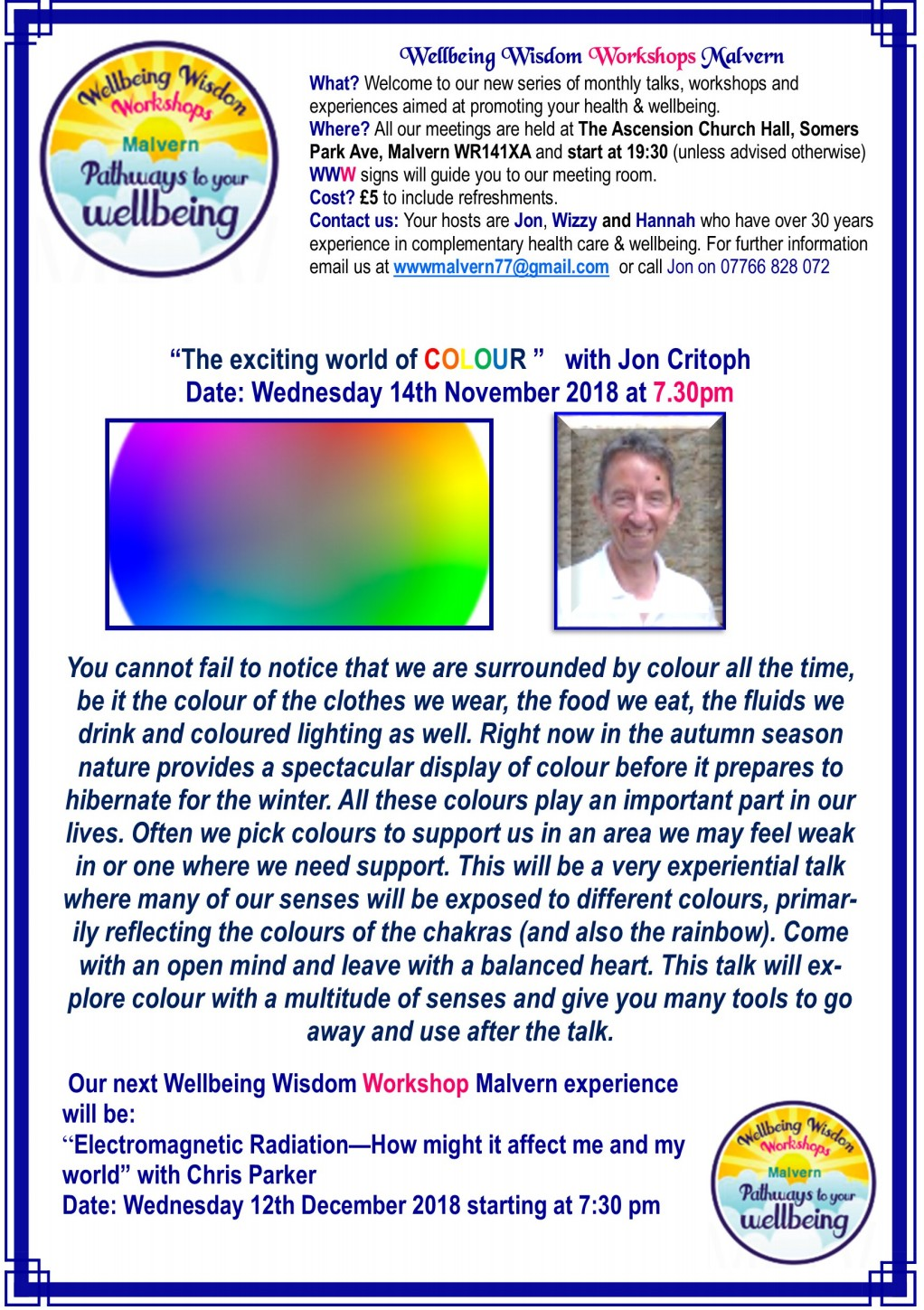 'The Exciting World of Colour', a talk by Jon Critoph