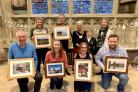 The winners of the EnviroWeek photo competition with Cllr Andrea Morgan, Chairman at Malvern Hills District Council, and Cllr Bronwen Behan.