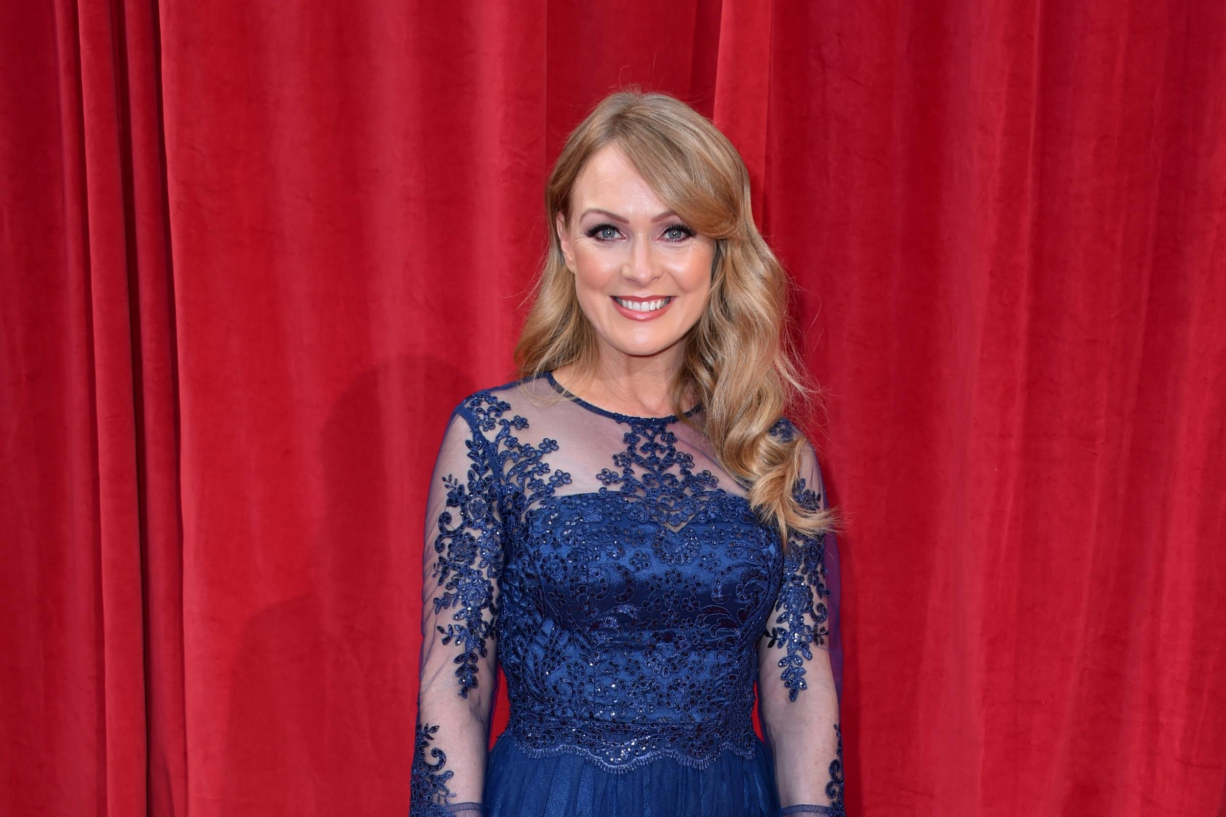 Michelle Hardwick on the red carpet