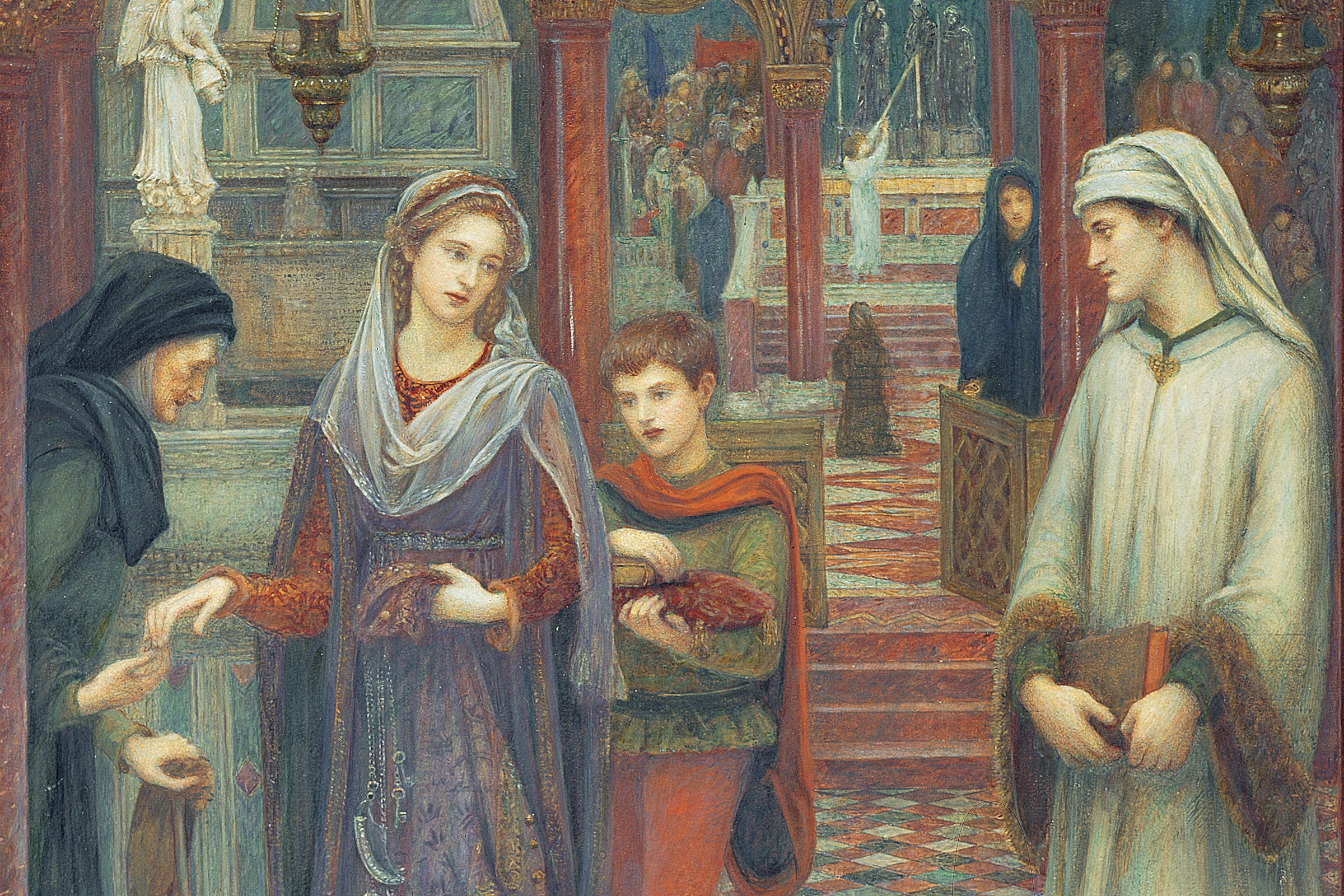 The First Meeting Of Petrarch And Laura, as the National Portrait Gallery is to explore untold stories of Pre-Raphaelite women