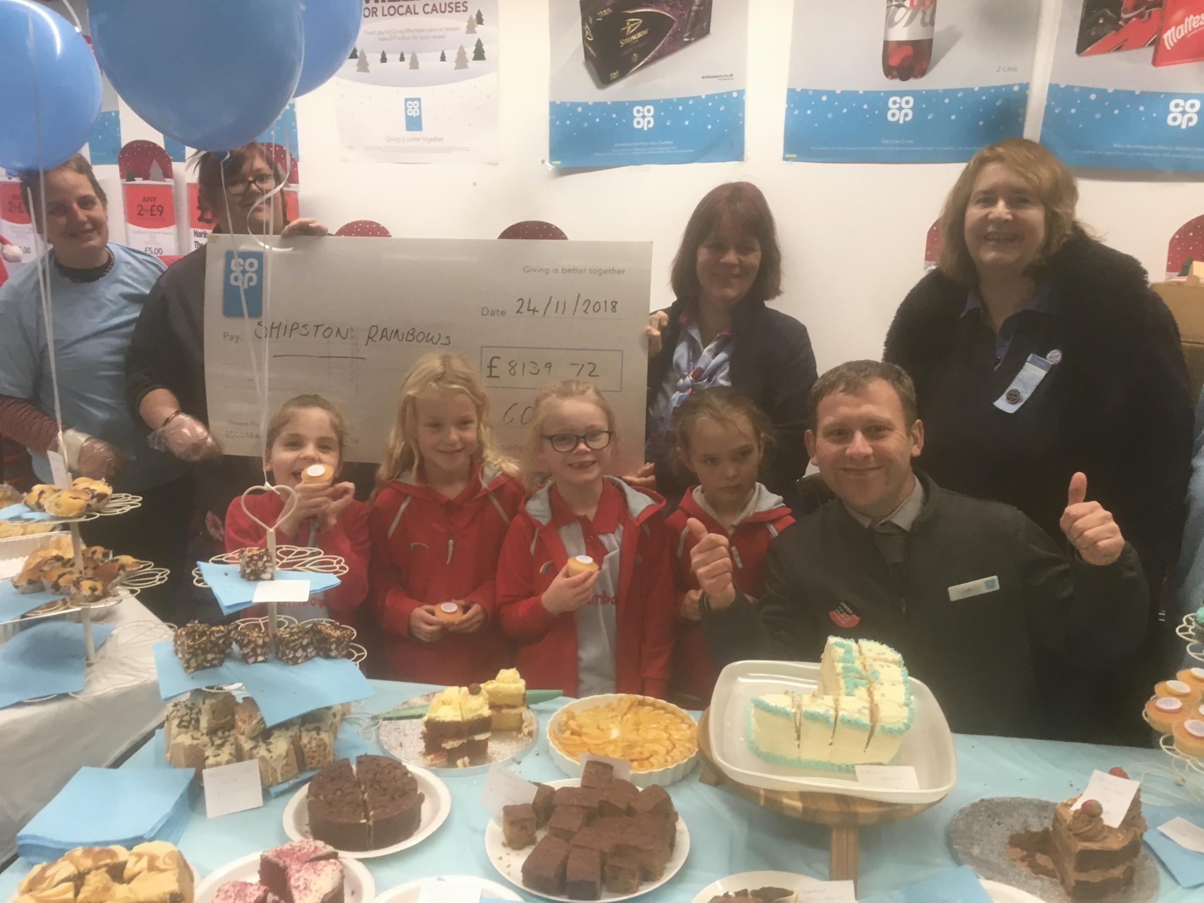 CHEQUE: Shipston on Stour Rainbows receive Co-op cash boost