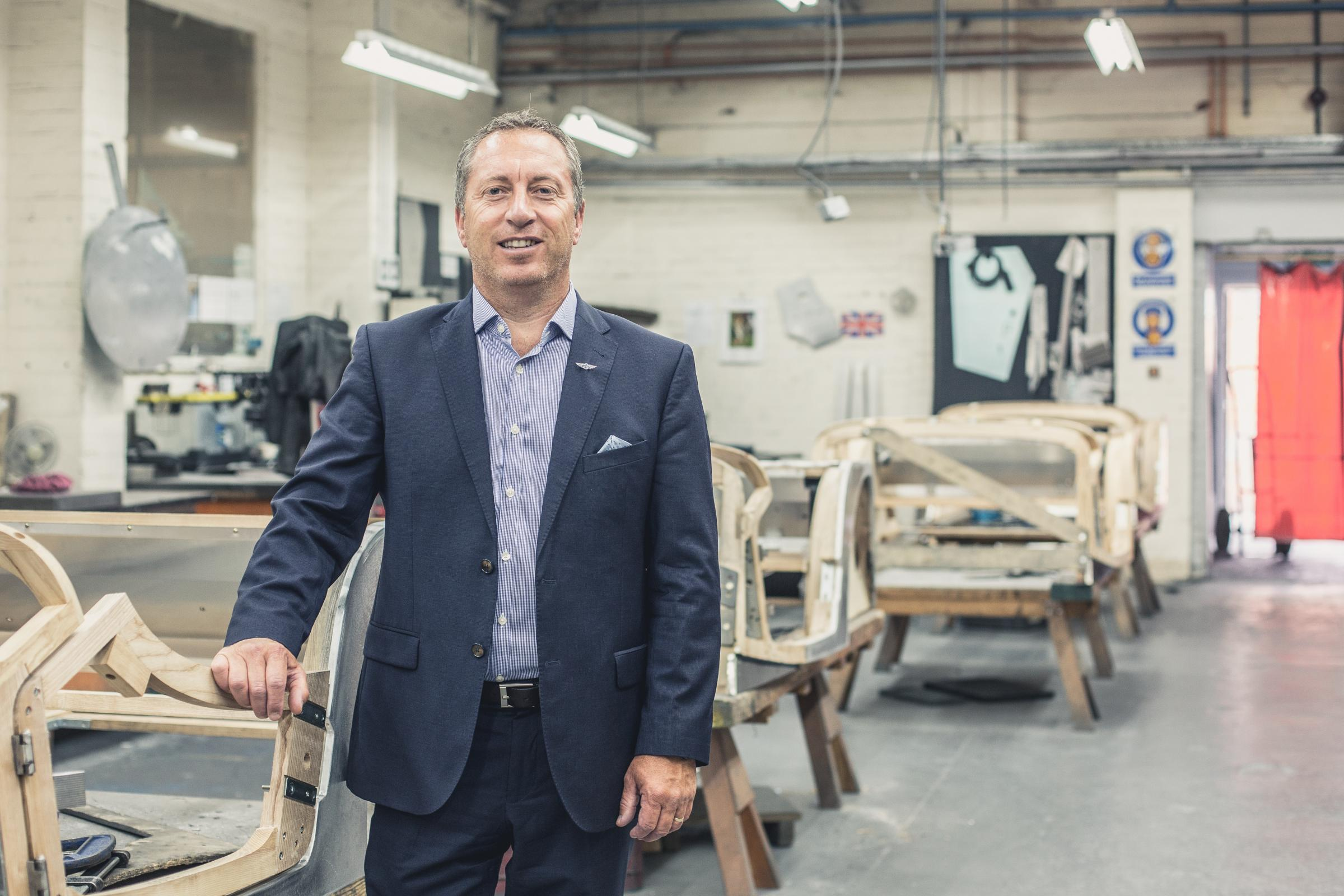 HERITAGE: Steve Morris has been at Morgan Motors for over 30 years