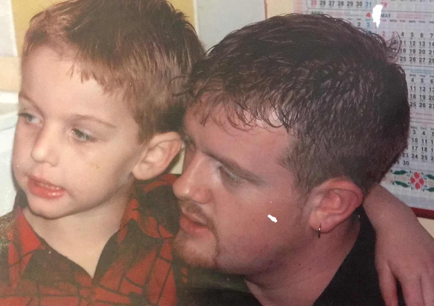 TRIBUTE: Steve Bradley with his son Callum