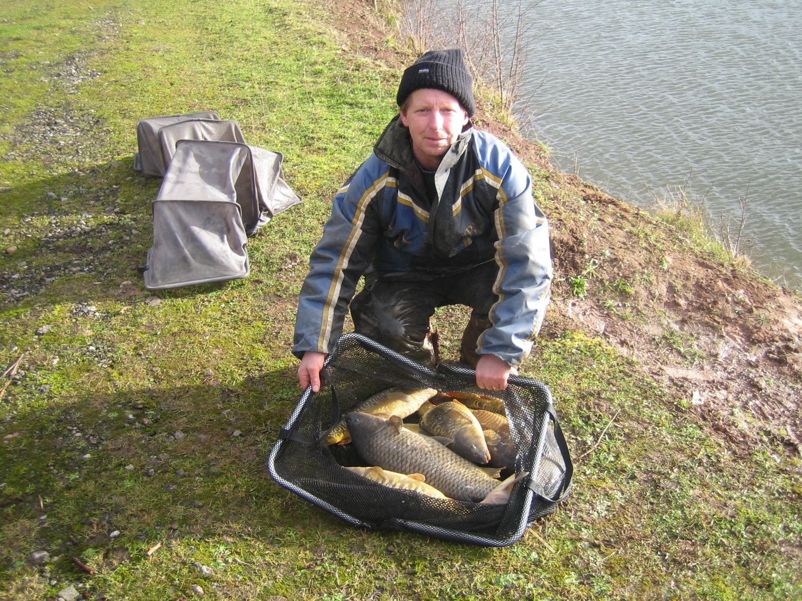 Malvern Anglers' winter contest winner Lee Harman. Picture: JOHN SHAW