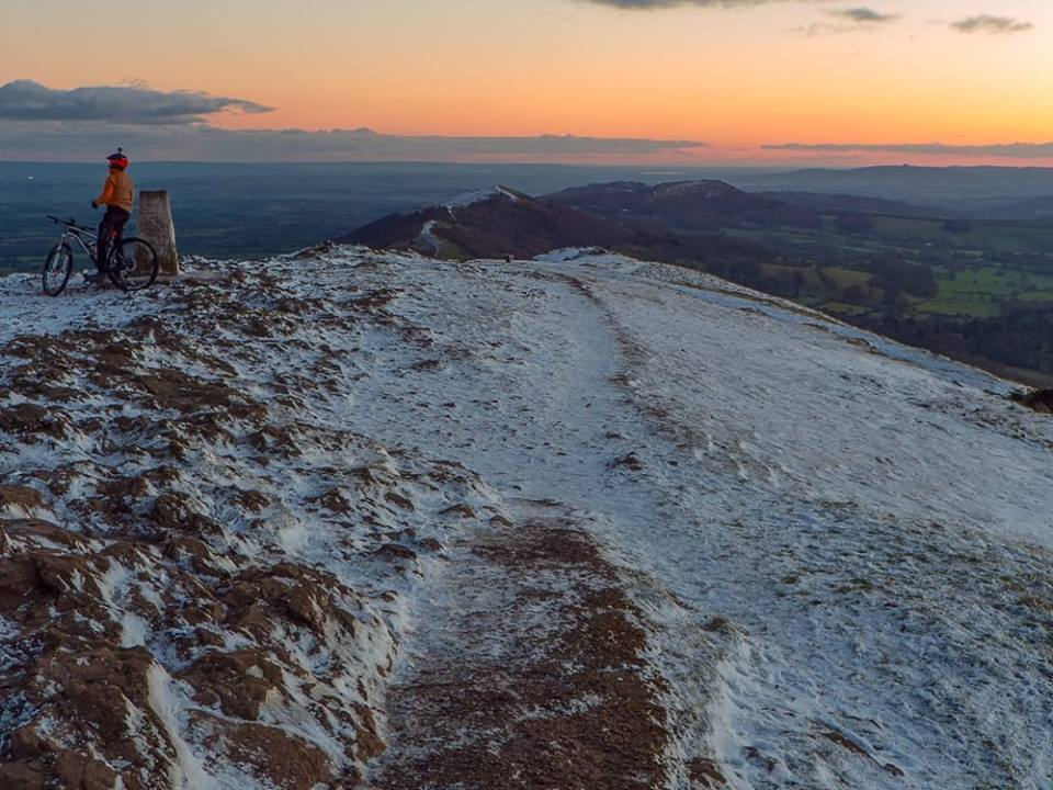 SNOW: Robert Urmston took this photo from the top of the Malvern Hills