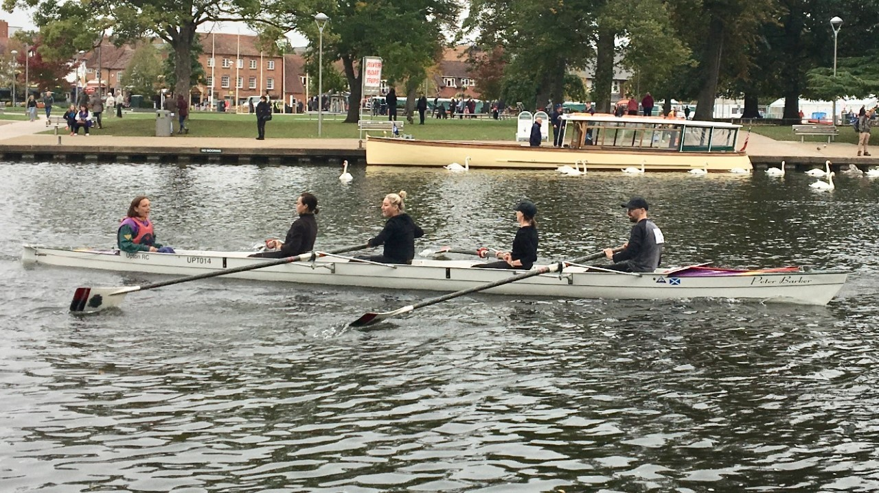 BOAT: A crew from Upton at Warwick Explore Rowing Regatta