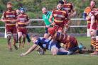 Action from Malvern's clash with Dudley Kingswinford. Picture: IAN JACKSON