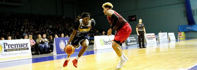 Worcester Wolves' Deshawn Freeman in action against Leicester Riders. Picture: KEITH HUNT