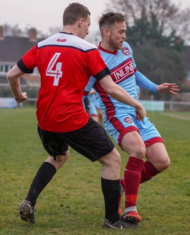 Malvern Town forward Dave Reynolds (right). Picture: CLIFF WILLIAMS