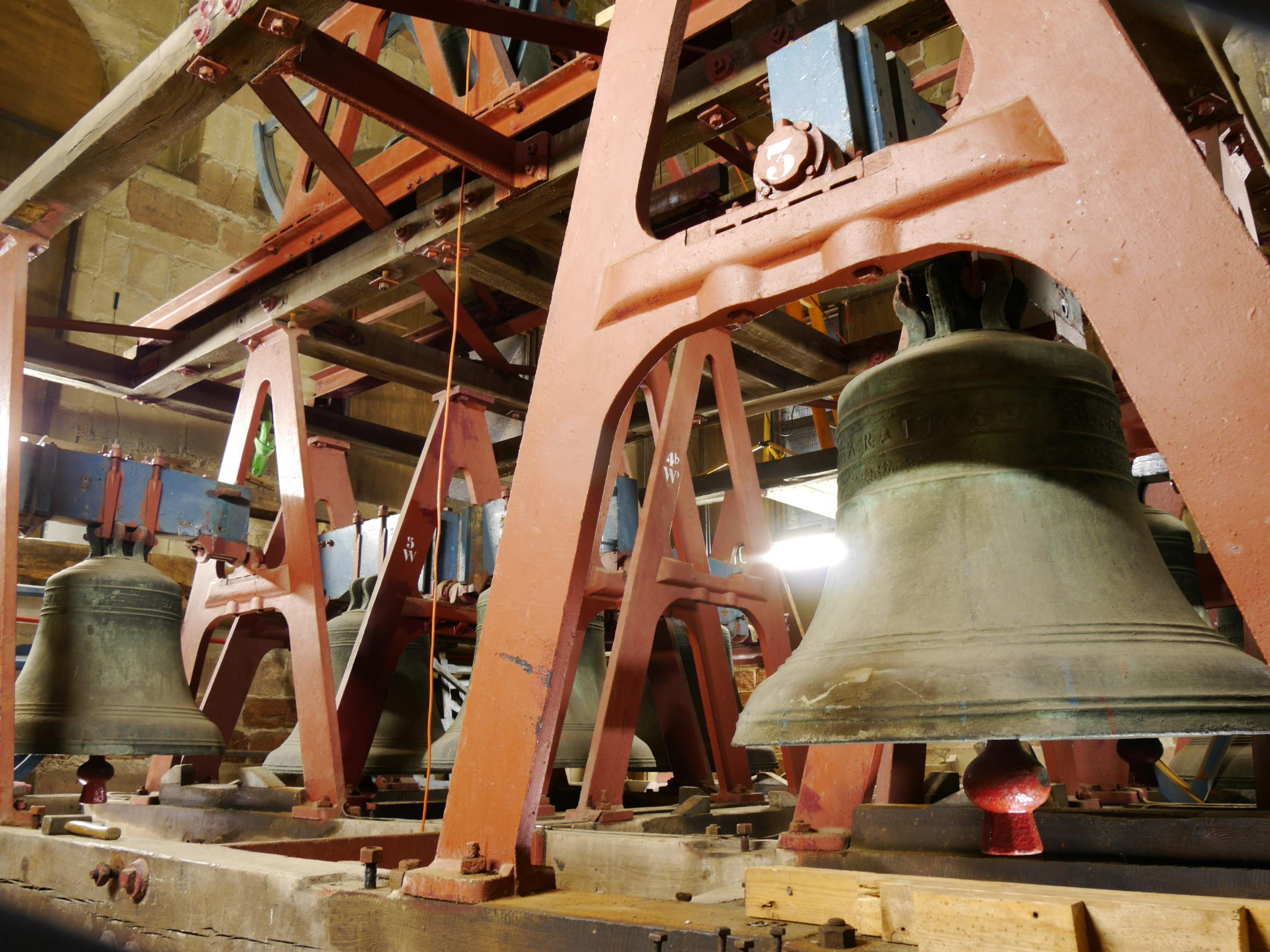 BELLS: The bells at Great Malvern Priory