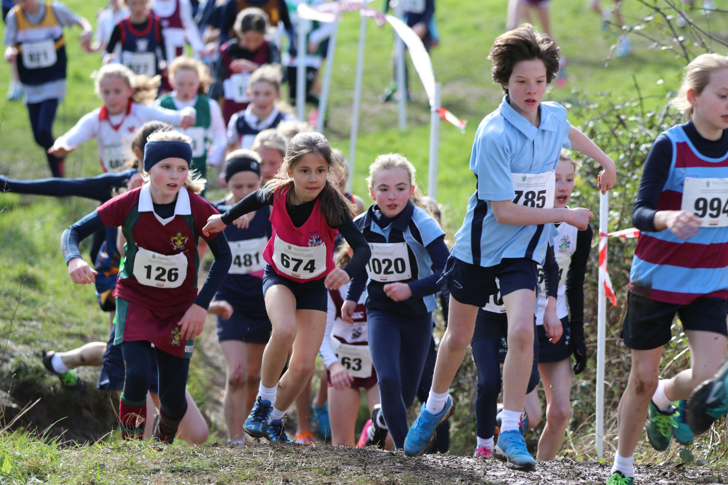 Competitors at the National Preparatory Schools' Cross-Country Championships. Picture: MALVERN COLLEGE