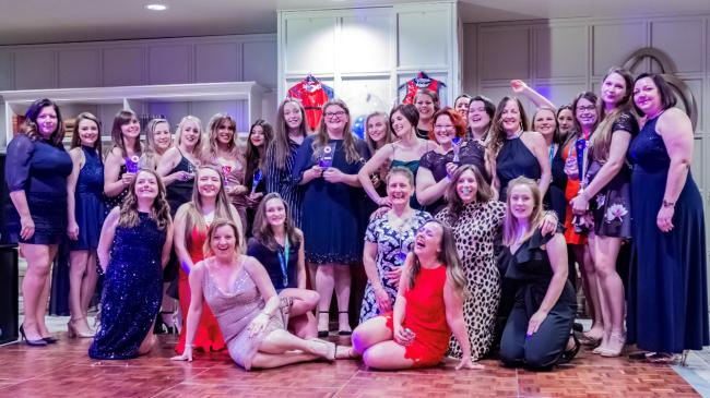 The growing Ledbury Ladies Netball Club held their first official presentation evening at the Feathers Hotel. Picture: CLARE WILLIAMS