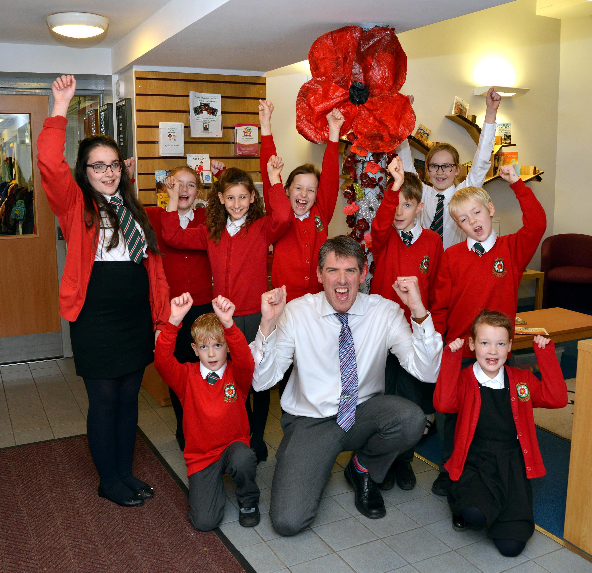 HAPPY: Dines Green Community Academy has been nominated for Primary School of the Year Award