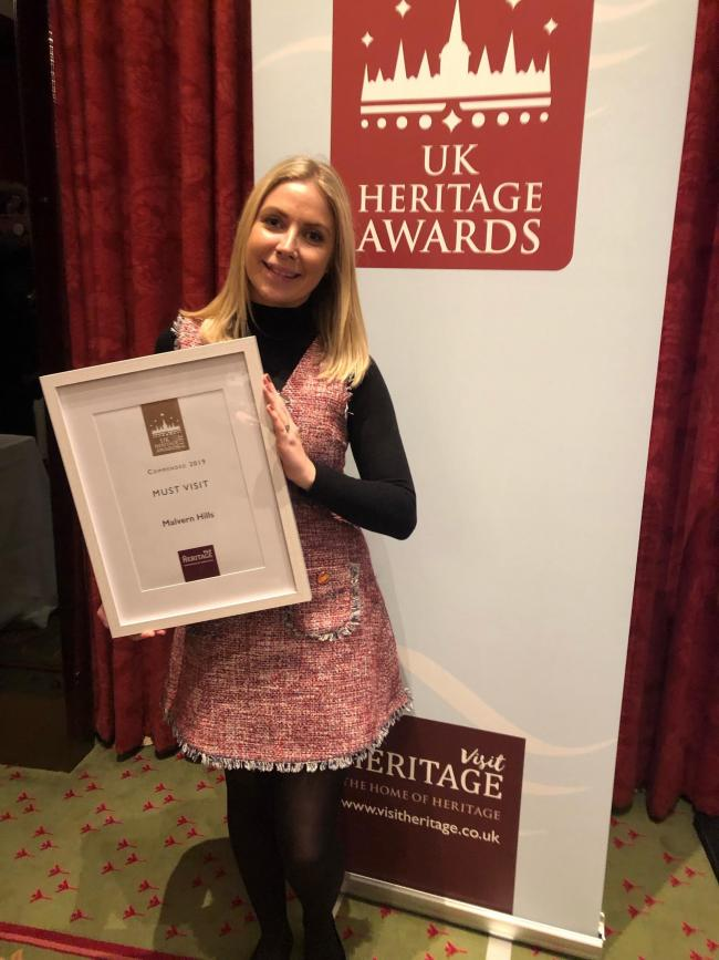 AWARD: Sophie Jackson, Community Services Engagement Officer, at the Heritage UK Awards 2019